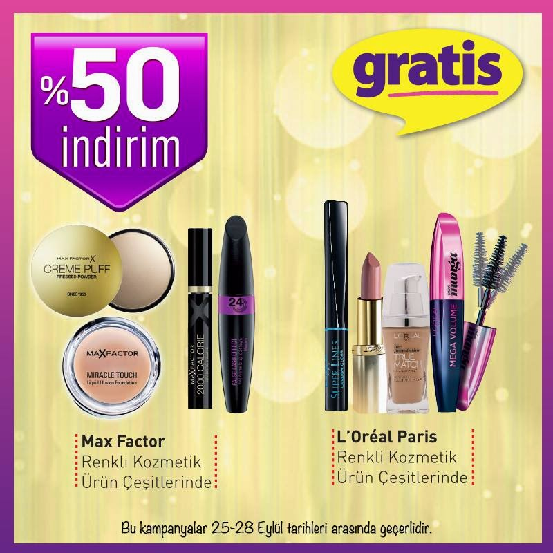 Gratis rimel,makyaj,far,fondöten,make up, maxfactor