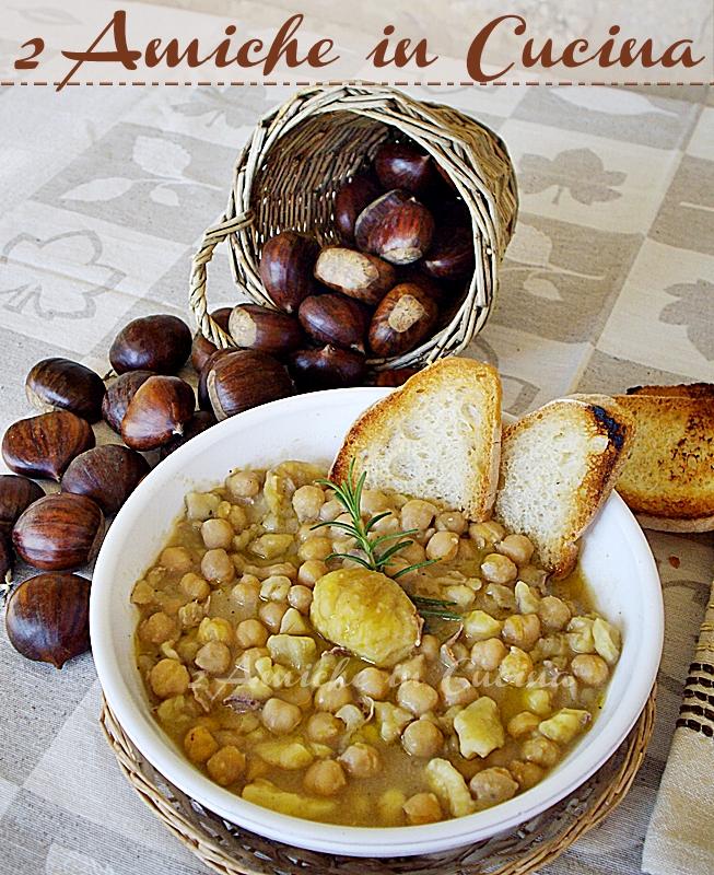 zuppa di ceci e castagne comfort food vegan dai sapori autunnali