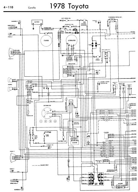 toyota_corolla_1978_wiringdiagrams repair manuals toyota corolla 1978 wiring diagrams Toyota 22R Engine Intake Diagram at sewacar.co