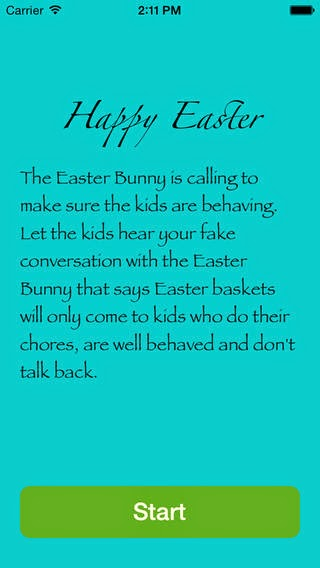Fake call from the Easter Bunny - Free