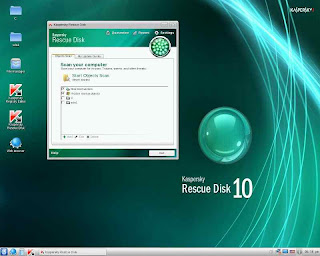 Kaspersky antivirus using linux to rescue windows os remove virus trozans malware
