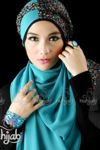 Nuhijab TS3 - Black Tosca (Toko Jilbab dan Busana Muslimah Terbaru)