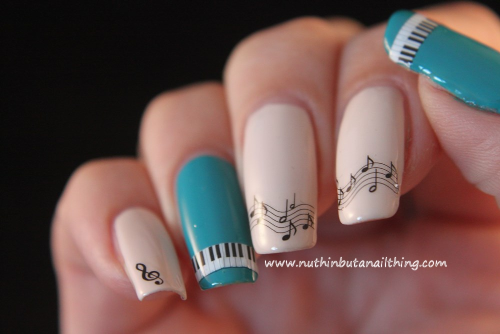 Born Pretty Store Musical Notes Water Decals