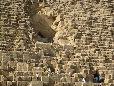 How can you entered khufu Pyramid