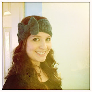 Free Knitting Pattern Bow Headband : Hair Accessories