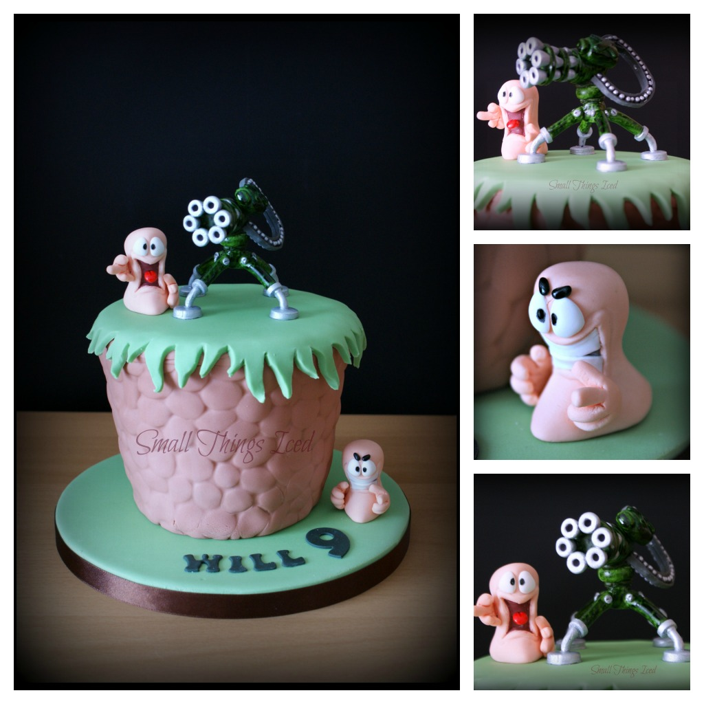 Small Things Iced Wills Worms Birthday Cake