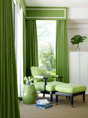 Curtains Ideas chinoiserie curtains : Chinoiserie Chic: Green Curtains