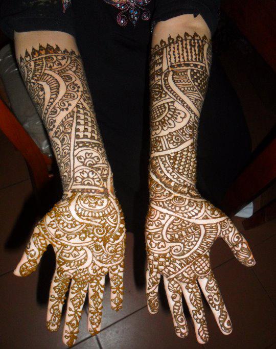 Modern Arabic Mehndi Designs : Latest mehndi trend modern designs she