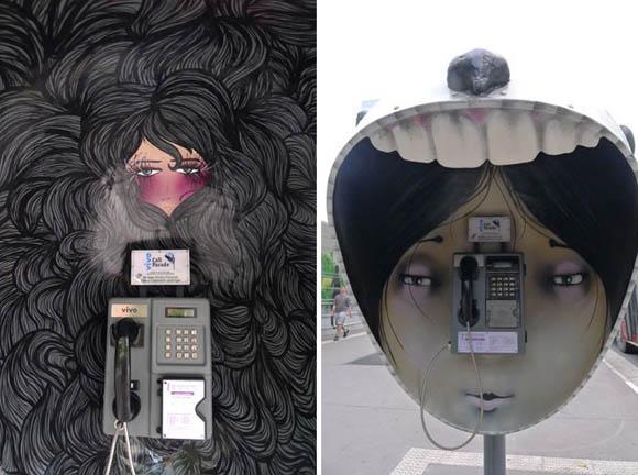 Orelhões de São Paulo transformados em obras de arte