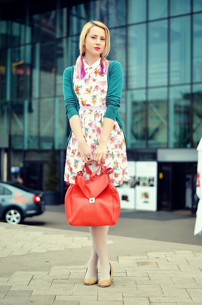 persunmall floral dress pig tails