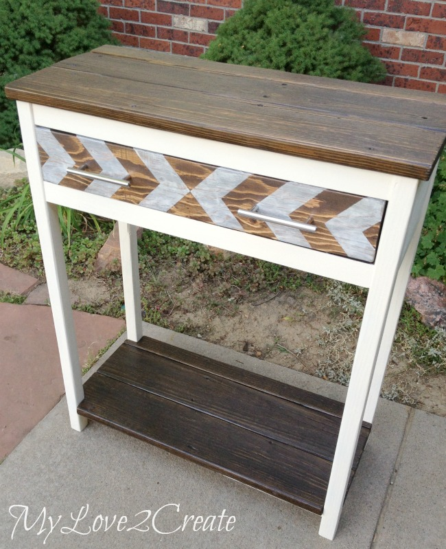 Entry Table made from reclaimed wood