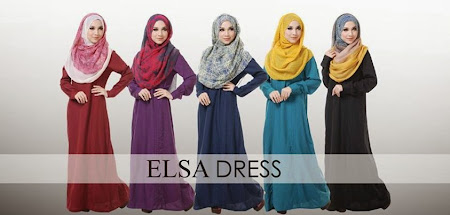 On Sale ELSA DRESS. Ada 5 Pilihan Warna Material Chiffon Full Lining
