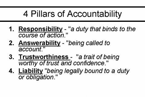 Accountability!