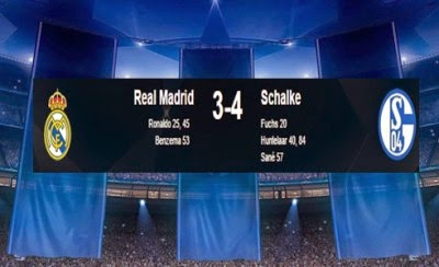 Hasil Real Madrid vs Schalke04 Liga Champion