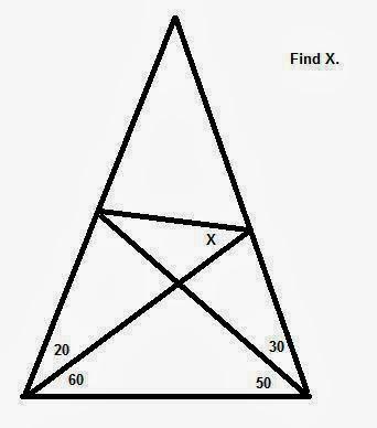 المسألة التي لا يوجد لها حل   اصعب سؤال على الانترنت   اتحداك اذا عرفت ان تحلها   اوجد قيمة الزاوية X  التي امامك حسب المعطيات