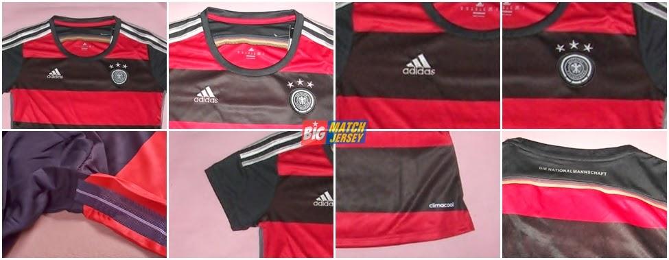 Detail Jersey Ladies Jerman Away Piala Dunia 2014 Grade Ori