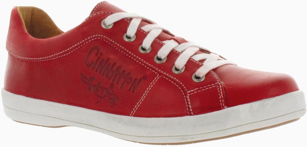 Cinnamon snörsko röd