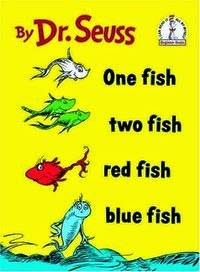 cover of the book, One Fish, Two Fish, by Dr. Seuss.