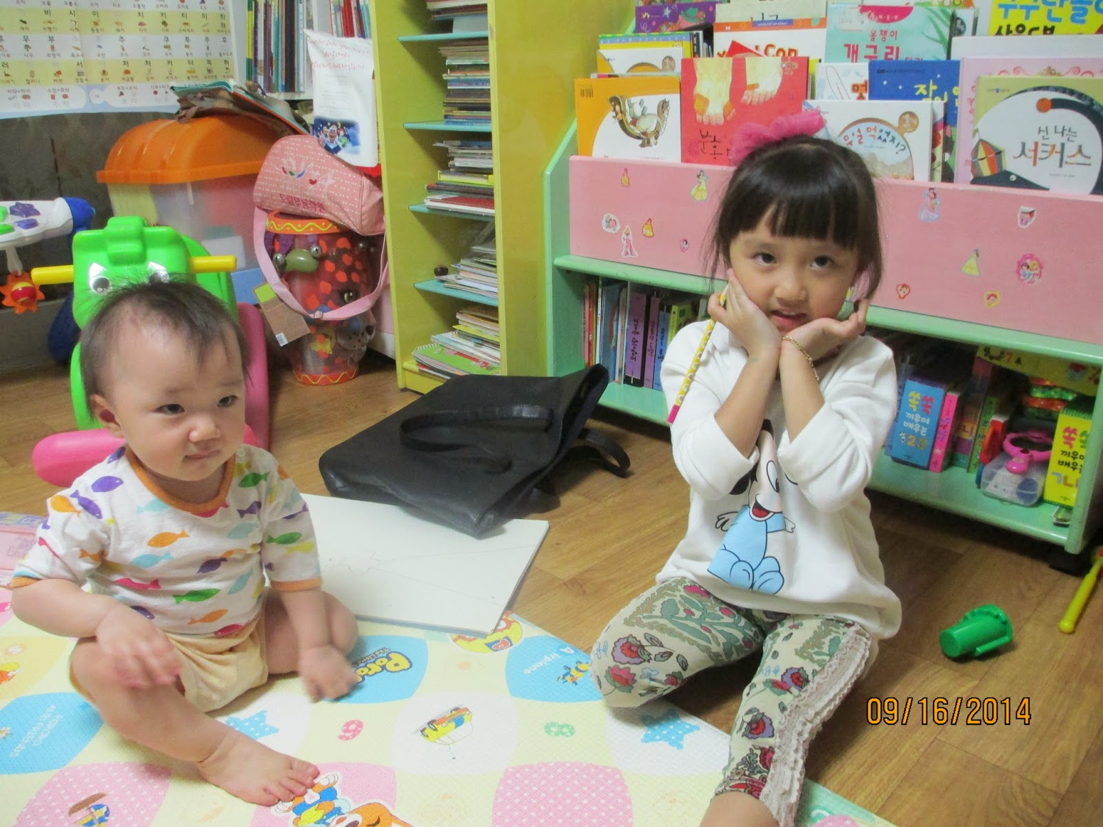 REALLY CUTE little girls--our investigator's daughters :)