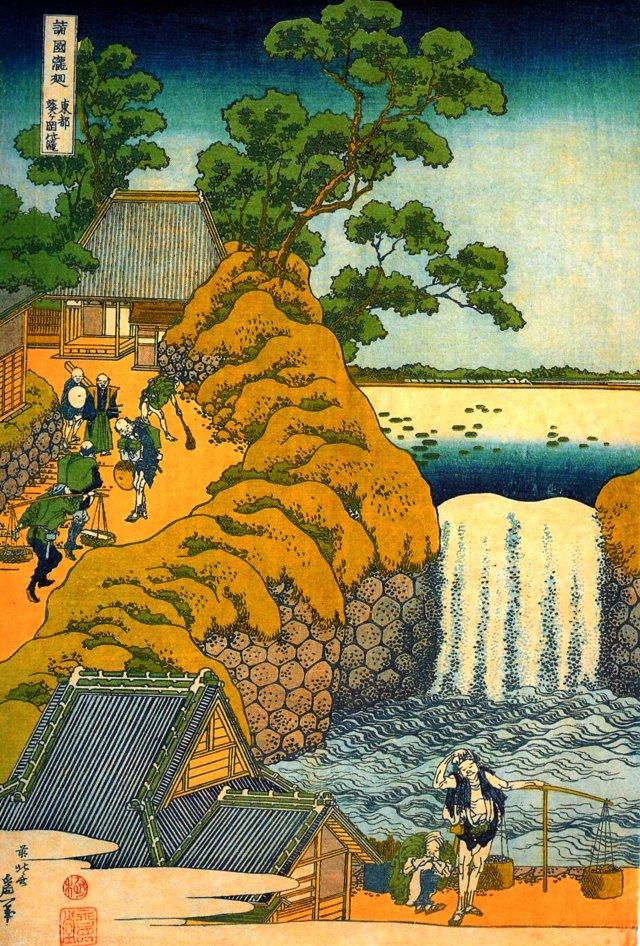 hokusai katsushika waterfall