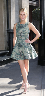 ASOS, Ashley Roberts, Tric Awards, Antipodium, Skater, Animal Print, Dress, Green