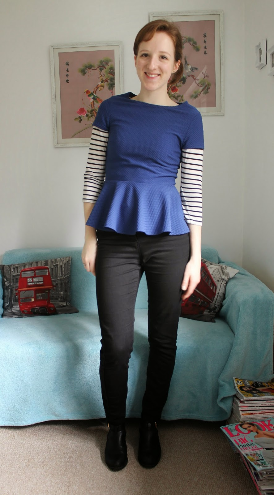 OOTD: A Peplum Top and Stripes