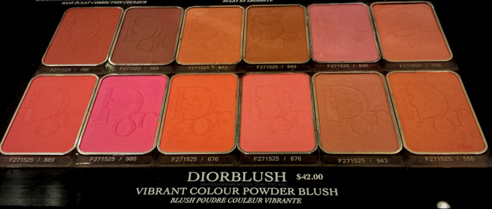 Dior Blush - 766 Lady Red 566 Brown Milly 553 Cocktail Peach 849 Mimi Bronze 846 Lucky Pink 756 Rose Cherie 889 New Red 986 Star Fuchsia 676 Coral Cruise 876 Happy Cherry 943 My Rose 556 Amber Show - Photos Swatches