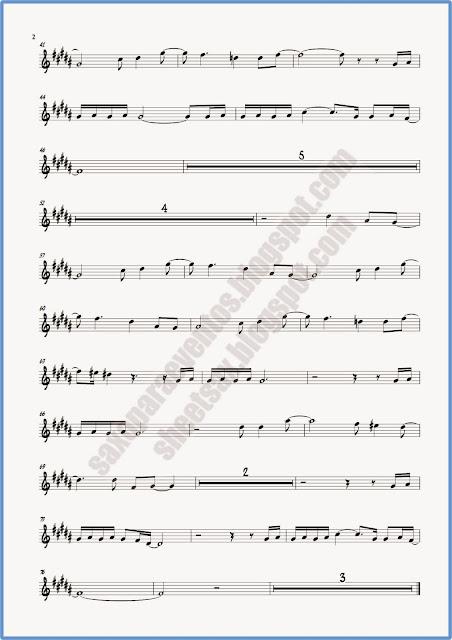 Partitura de Crimen para saxo tenor hoja 2