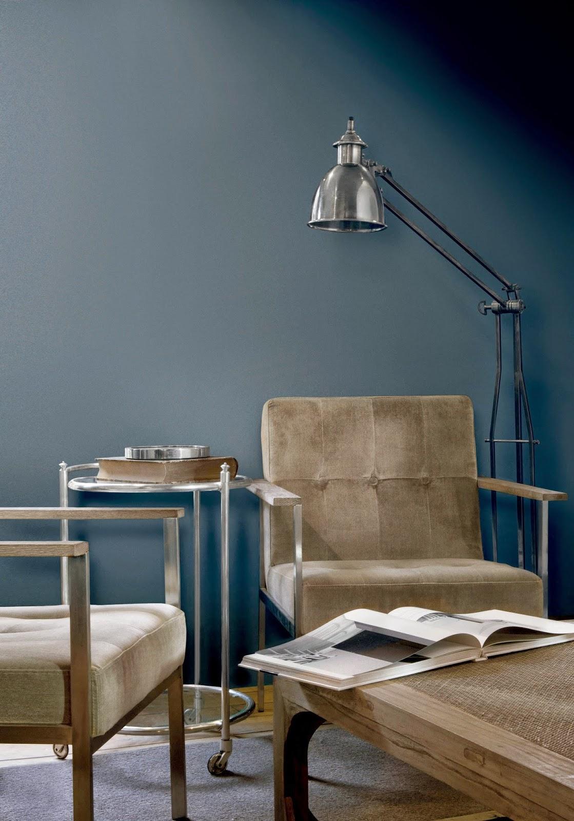 Madame d core 2015 en couleurs nouvelles teintes sign es flamant - Peinture bleu gris tollens ...