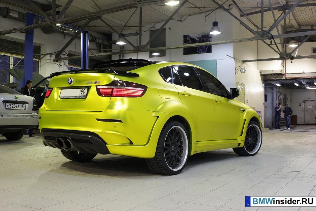 BMW X6 M Hamann в матовом желтом цвете от русского тюнинг-салона Re-Styling.