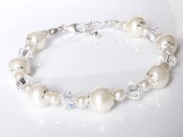 Pearl Bracelet w/ Swarsovski Beads