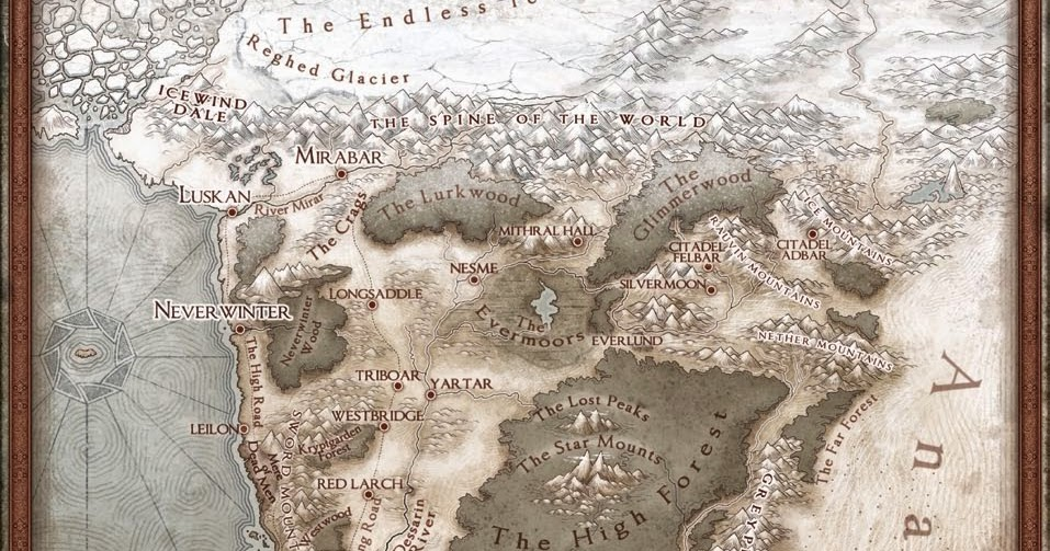 My Realms A New Map Of The Sword Coast Update Hex Map