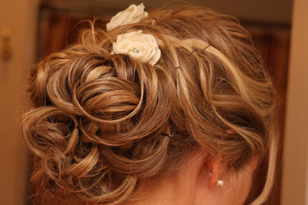 romantic updo wedding hairstyle