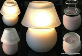 Soy Candle Jar Lamps