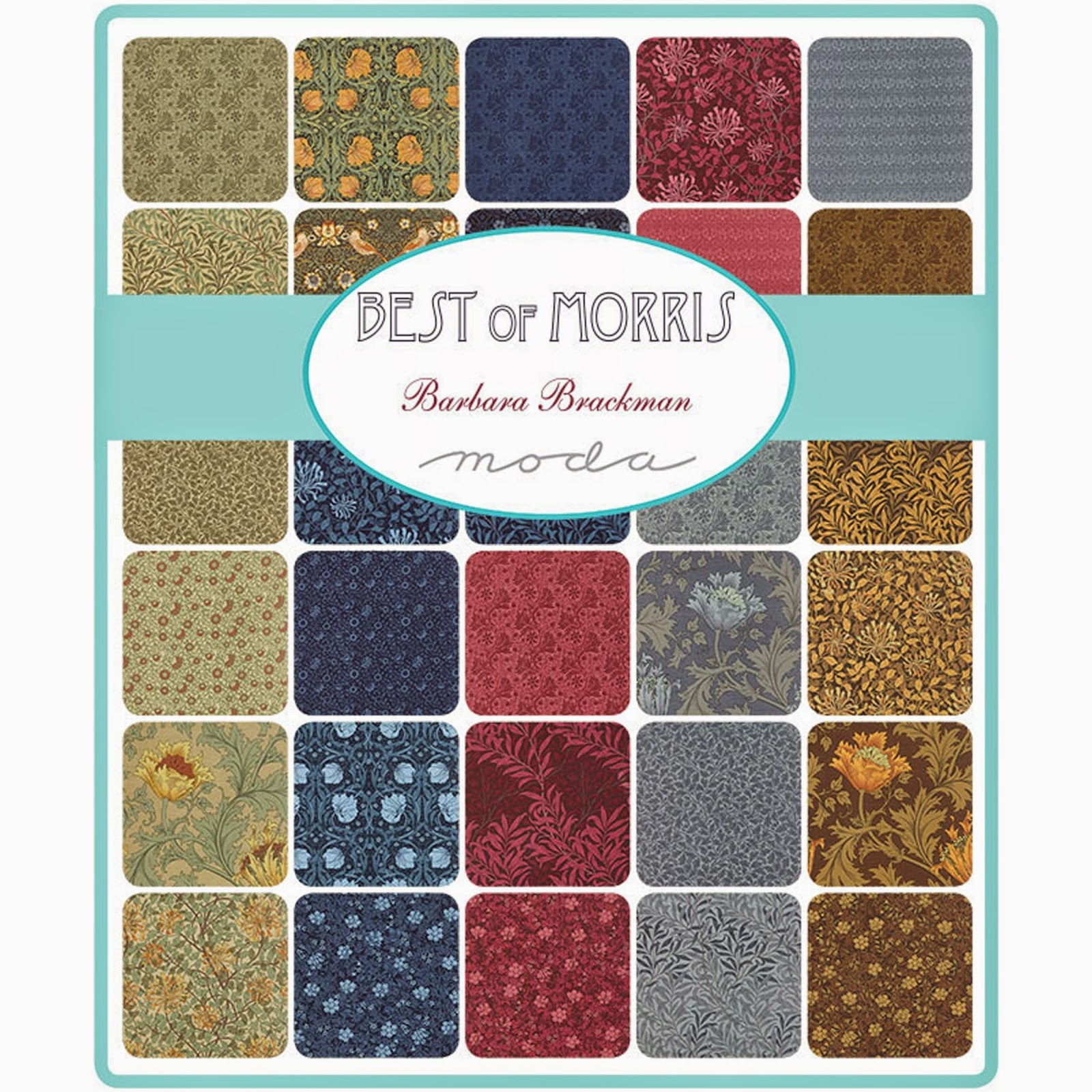 Moda BEST OF MORRIS Fabric by Barbara Brackman for Moda Fabrics