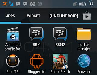Aplikasi Membuat Blackberry jadi 2