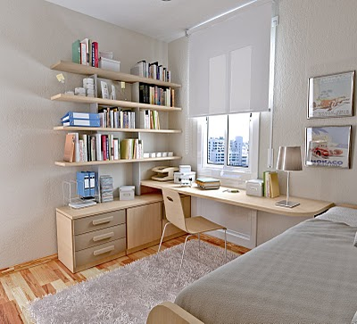 Charming Soft Color In The Kids Study Room By Sergi Mengot