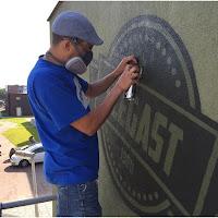 Wijkcentrum Elegast voorzien van Muurschildering en Signing