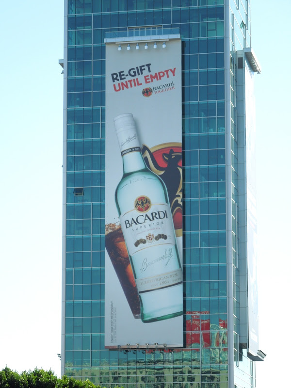 Bacardi regift until empty billboard