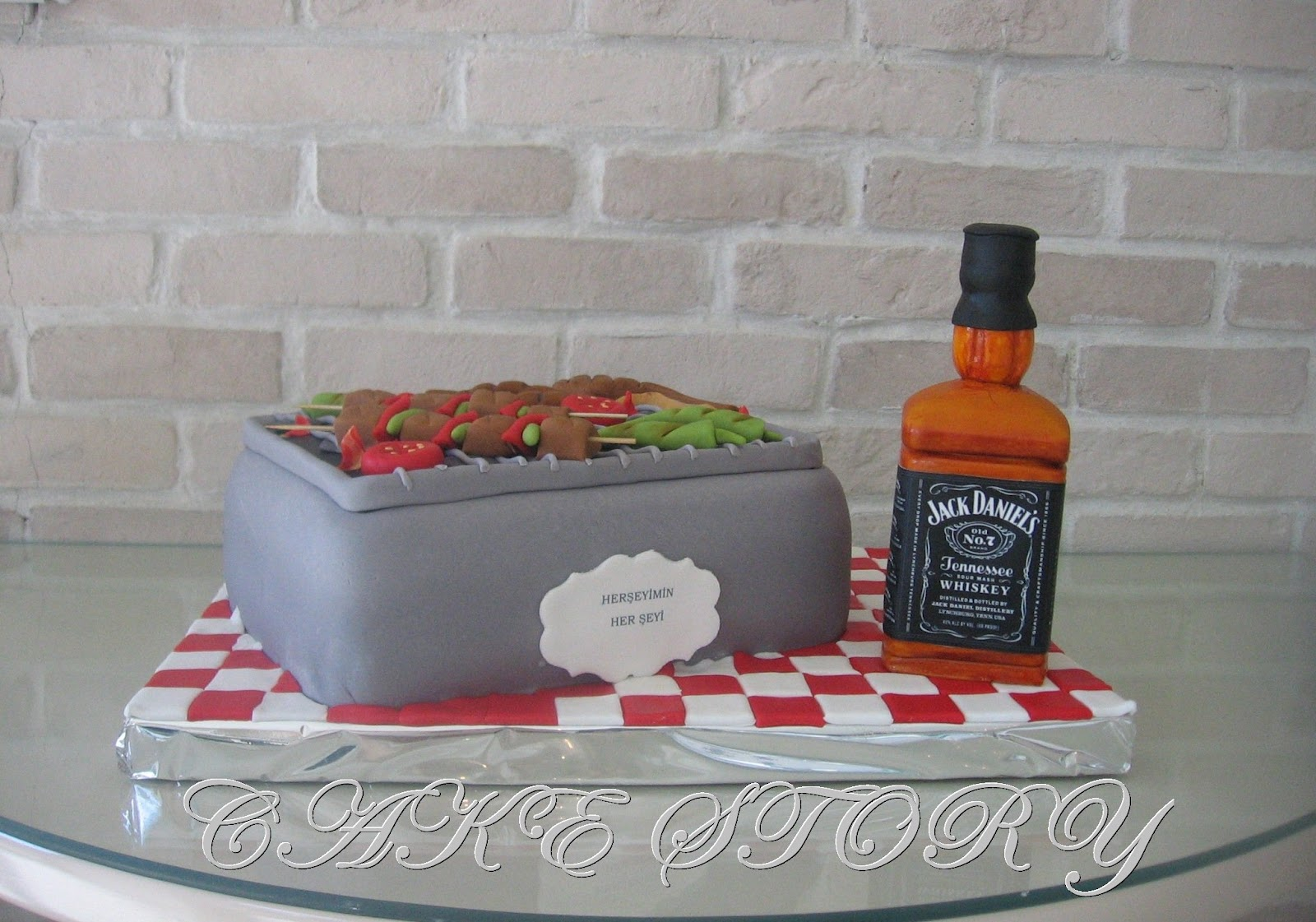 Cake Story Barbeque Jack Daniels Birthday Cake