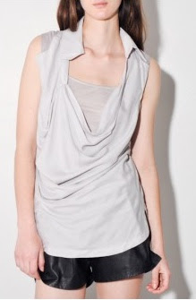 Cowl Woven Shirt