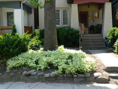 Leslieville front garden cleanup after Paul Jung Gardening Services Toronto