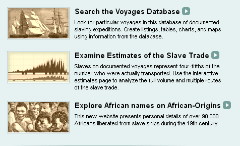 slave trade database assignment Voyages: the transatlantic slave trade database solving 'the greatest mystery in the history of the west.