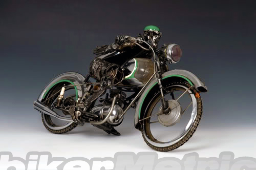 racer motorcycle sculpture | james corbett