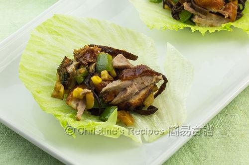 火鴨絲生菜包  Duck San Choy Bao02