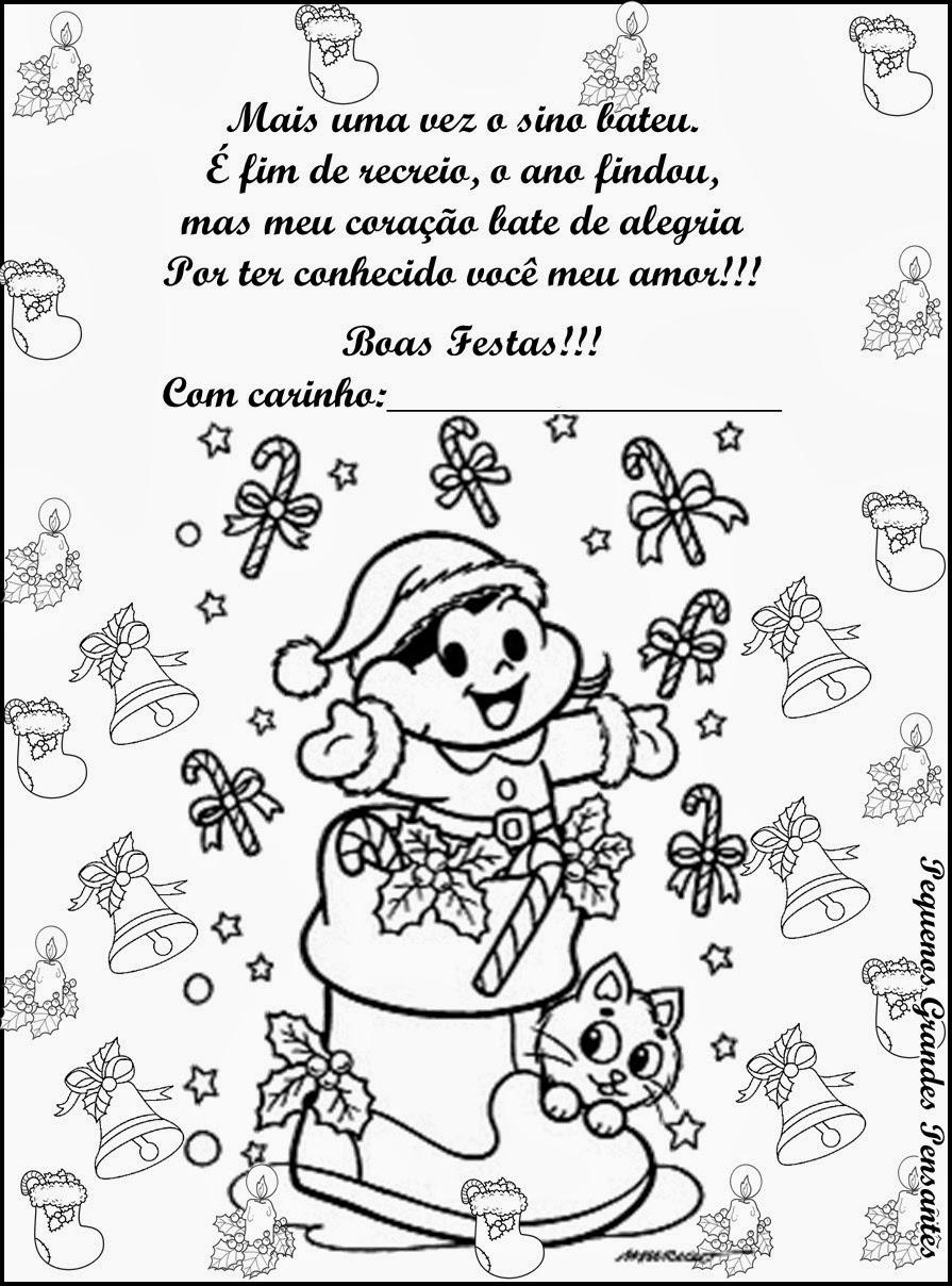Muito Pequenos Grandes Pensantes.: Mensagem de Natal - Educação Infantil PQ55