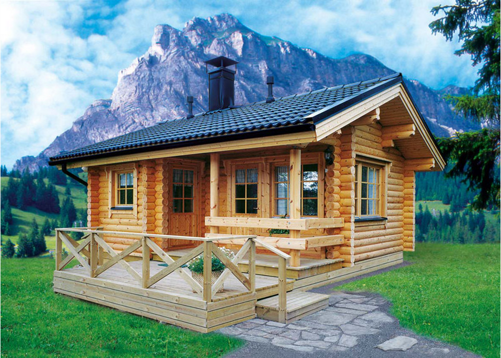 September 2014 timber frame houses for Wood cabin homes