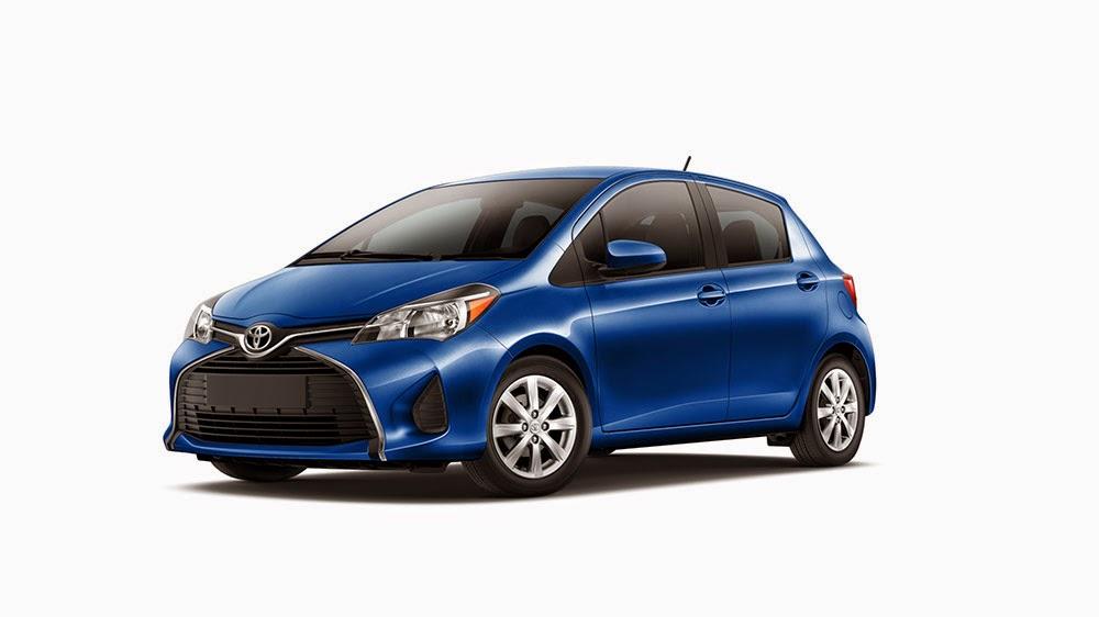 2015 blue Toyota Yaris
