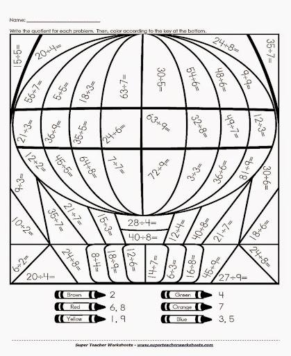 math worksheet : multiplication and division coloring worksheets  worksheets for  : Multiplication Coloring Worksheet