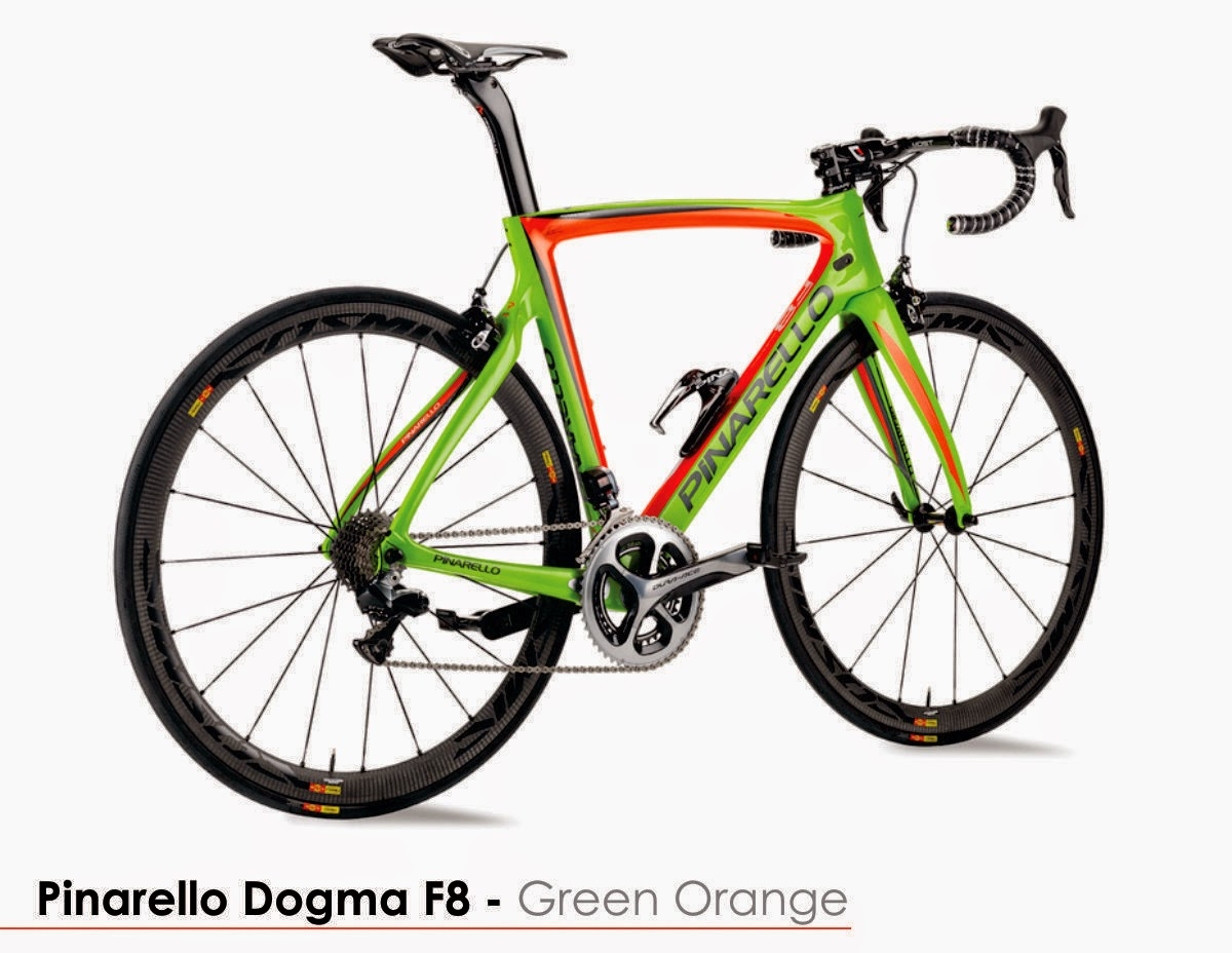 Pinarello F8 Green Orange